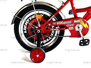 Велосипед «Тачки», черный с красным, BT-CB-0004, фото