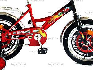 Велосипед «Тачки», красный с черным, BT-CB-0003, фото