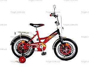 Велосипед «Тачки», красный с черным, BT-CB-0003