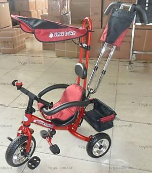 Велосипед трехколесный с крышей, LT-2012 RED