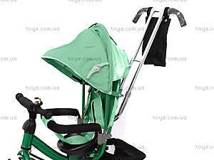 Велосипед трехколесный с крышей, зеленый, QAT-T017 ЗЕЛ, купить