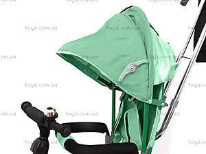 Велосипед трехколесный с крышей, зеленый, QAT-T017 ЗЕЛ, фото