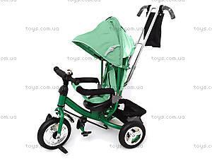 Велосипед трехколесный с крышей, зеленый, QAT-T017 ЗЕЛ