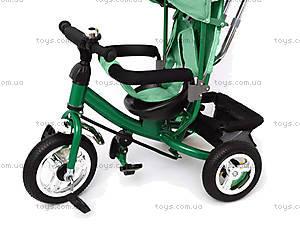 Велосипед трехколесный с крышей, зеленый, QAT-T017 ЗЕЛ, отзывы
