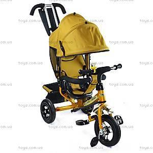 Велосипед трехколесный с ручкой, золотой, BT-CT-0004 GO