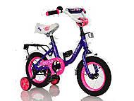 """Велосипед 12"""" дюймов 2-х колёсный «CORSO» (фиолетовый), С12010, отзывы"""