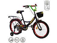"""Велосипед 18 дюймов """"CORSO"""" (ручной тормоз, звоночек, сидение мягкое) черно-красный, G-18050, отзывы"""