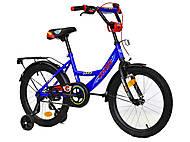 Двухколесный велосипед 18 дюймов CORSO, синий, С18610