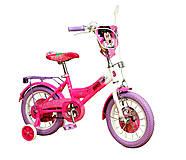 Велосипед 2-х колесный 14'' со звонком, зеркалом (розовый), 191405, отзывы