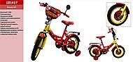 Велосипед со звонком и зеркалом 14'', 181417, toys.com.ua
