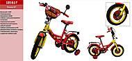 Велосипед 2-х колесный 16'' Тачки, 181617, детские игрушки