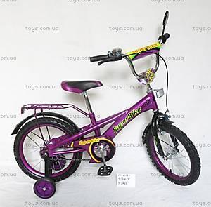 Велосипед 2-х колесный со стальной рамой «Super Bike», 16 дюймов, 151603