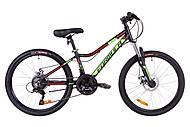 """Велосипед 24"""" Formula ACID 1.0 DD 2019 (черно-зеленый с красным), OPS-FR-24-128"""
