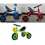 Велосипед 3-х колесный 3 цвета: красный, голубой, зеленый, 1812, купить