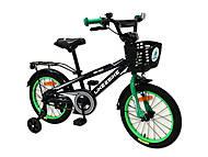Велосипед детский 2-х колесный 16'' Dark Rider (черно-зеленый), 201603