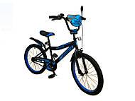 Велосипед детский 2-х колёсный 14 дюймов Like2bike Dark Rider, чёрно-синий , 191425, фото