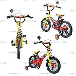 Велосипед двухколесный с зеркалом и звонком, 141401-J