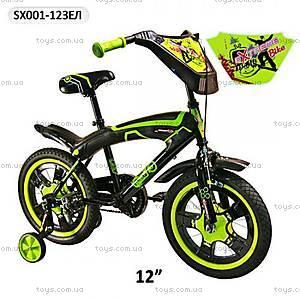 Велосипед двухколесный зеленый, SX-001-12ЗЕЛ