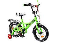 Велосипед 14 дюймов «EXPLORER», салатовый, T-21418, игрушки