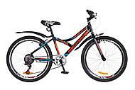 """Велосипед подростковый Discovery FLINT 2018 черно-оранжево-синий 24"""", OPS-DIS-24-085, фото"""