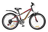 """Велосипед подростковый Discovery FLINT AM 2018 черно-оранжево-красный 24"""", OPS-DIS-24-088, тойс"""