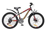"""Велосипед подростковый Discovery FLINT AM DD 2018 черно-оранжево-красный 24"""" , OPS-DIS-24-076, опт"""