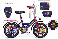 Велосипед с футбольной символикой 18'', 181808, детские игрушки