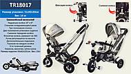 Велосипед с поворотным сиденьем, надувные колеса 10'' и 8' (серый), TR18017, детские игрушки