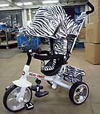 Велосипед TILLY Zoo-Trike с расцветкой зебры, T-342* WHITE, фото