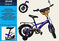 Велосипед с ручным тормозом (оранжево-синий), 181446