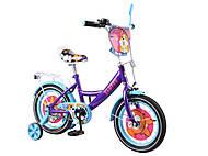 Детский велосипед 14 дюймов «TILLY Fluffy», фиолетово-голубой, T-214213, купить