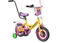 """Детский велосипед 12"""" «TILLY Monstro» жёлто-розовый , T-212210, купить"""