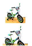 "Велосипед TILLY «Мотогонщик» 16"" green + black, T-216212"
