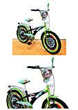 """Велосипед TILLY Мотогонщик 20"""" (black + green), T-220211, отзывы"""