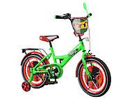 Детский велосипед 16 дюймов «TILLY Ninja», зелёно-красный , T-216216
