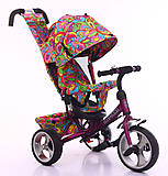 Велосипед TILLY Trike фиолетовый, T-344-2ФИОЛЕТОВЫЙ, детские игрушки