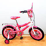 "Велосипед TILLY Зіронька 16"" (crimson + white), T-216214, купить"