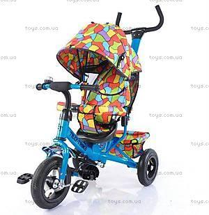 Велосипед трехколесный голубой для деток, T-351-1