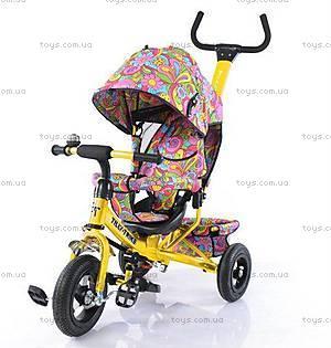 Велосипед трехколесный желтый, T-351-6