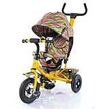 Велосипед трехколесный желтый для детей, T-351-2, отзывы
