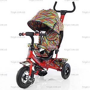 Велосипед трехколесный красный с надувными колесами, T-351-2
