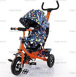Велосипед трехколесный оранжевый для детей, T-351-10
