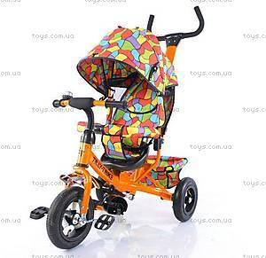 Велосипед трехколесный оранжевый для деток, T-351-1