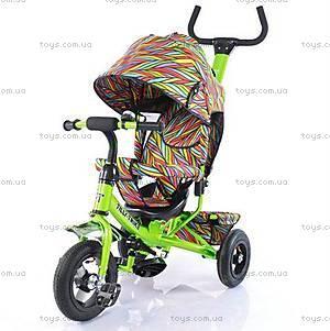 Велосипед трехколесный салатовый с надувными колесами, T-351-2