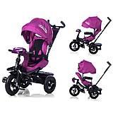 Велосипед трехколесный TILLY CAYMAN с пультом и усиленной рамой фиолетовый, T-381 Фиолетовый