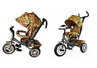 Велосипед трехколесный TILLY Trike, графитовый, с большими надувными колесами , T-351-4 Графитовый, фото