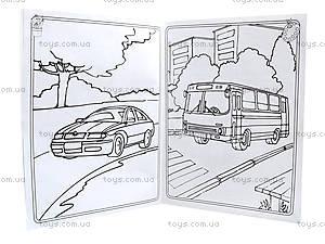 Большая книга раскрасок «Транспорт», украинский язык, К207017У, купить