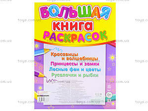 Большая книга раскрасок для детей  «Принцессы», К207013Р, фото