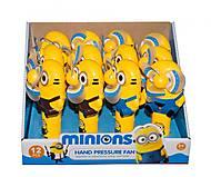 Вентилятор ручной Миньоны, 8679A, игрушки
