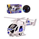 """Вертолет инерционный """"Police""""с эффектами , J168-10, опт"""